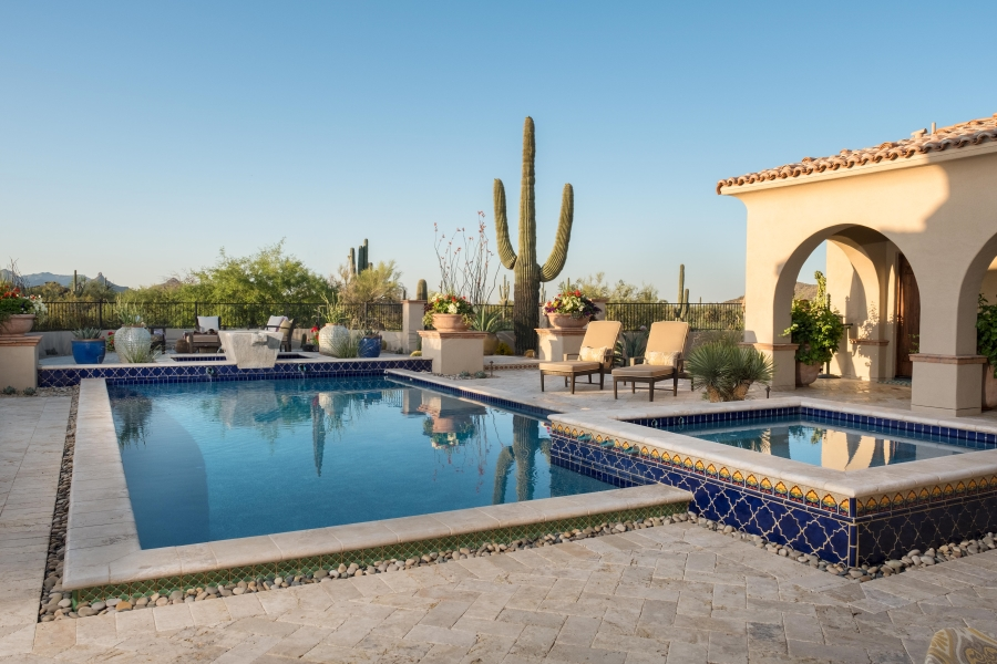 Talavera-Tiled Pool and Spa