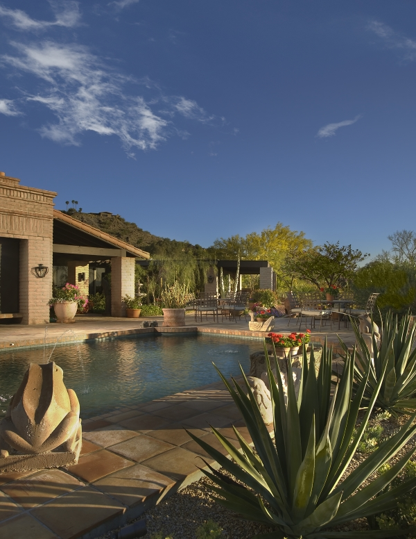 Xeriscaped Pool